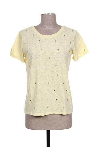 T-shirt manches courtes jaune DAPHNEA pour femme