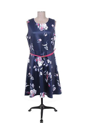 Robe mi-longue bleu ACBELLE pour femme
