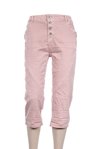 karostar pantacourts femme de couleur rose