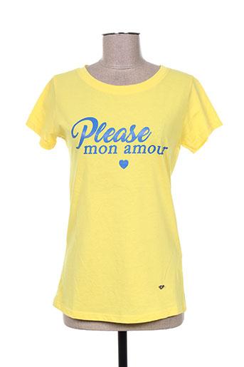 please t-shirts femme de couleur jaune