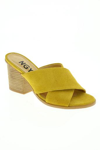ngy chaussures femme de couleur jaune