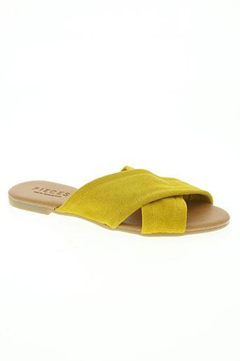 pieces chaussures femme de couleur jaune