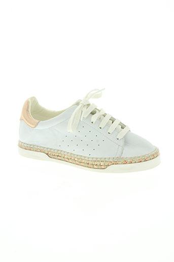 canal st martin chaussures femme de couleur blanc