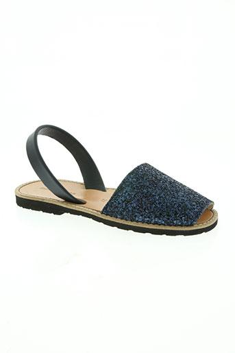 minorquines chaussures femme de couleur bleu