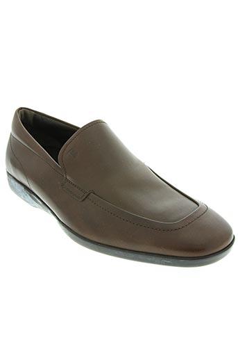 tod's chaussures homme de couleur marron