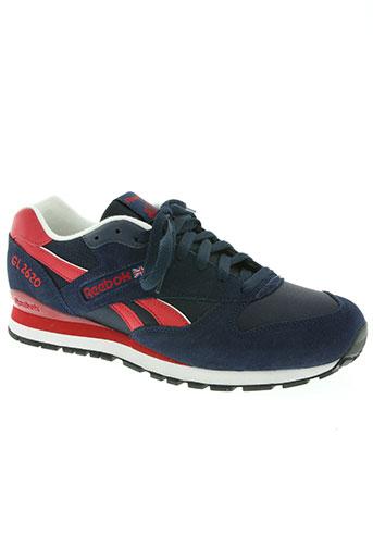 reebok chaussures homme de couleur bleu