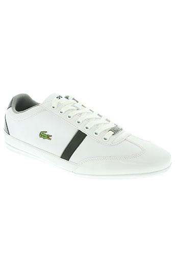 lacoste chaussures homme de couleur blanc
