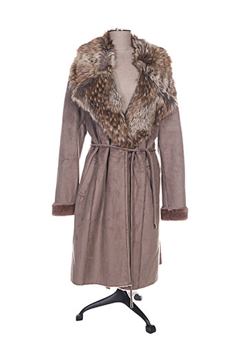 rino EFFI_CHAR_1 pelle manteaux femme de couleur marron