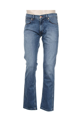 wrangler jeans homme de couleur bleu
