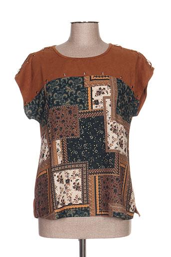 my collection chemises femme de couleur marron