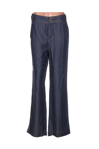 jus d'orange pantalons femme de couleur bleu