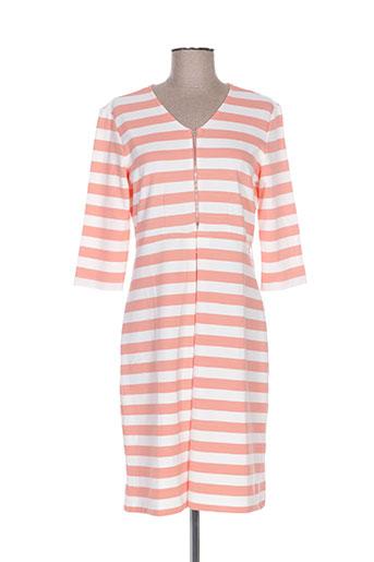 Robe mi-longue orange CONCRETO pour femme