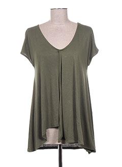 T-shirt manches courtes vert CONCRETO pour femme