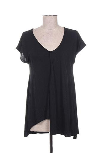 concreto t-shirts femme de couleur noir