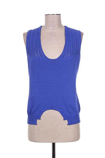 crea concept t-shirts femme de couleur bleu