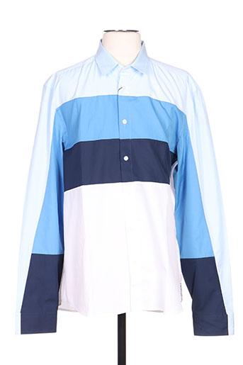 kenzo chemises homme de couleur bleu