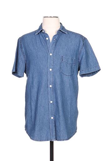 samsoe EFFI_CHAR_1 samsoe chemises homme de couleur bleu