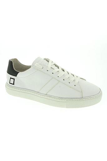 date chaussures homme de couleur blanc