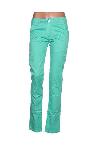 leeyo jeans pantalons homme de couleur vert