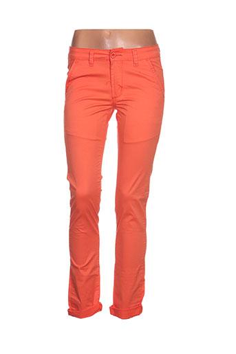 leeyo jeans pantalons homme de couleur orange