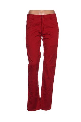 leeyo jeans pantalons homme de couleur rouge