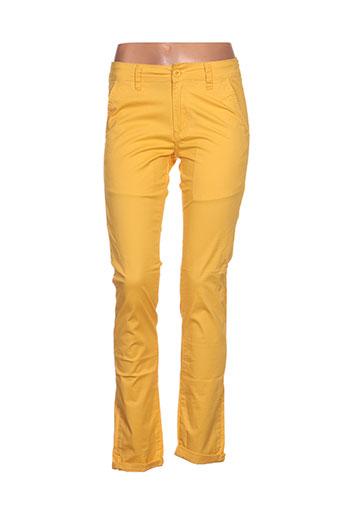 leeyo jeans pantalons homme de couleur jaune