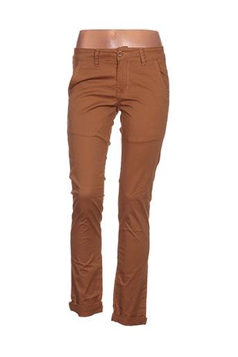 leeyo jeans pantalons homme de couleur marron