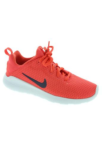 nike chaussures fille de couleur rouge