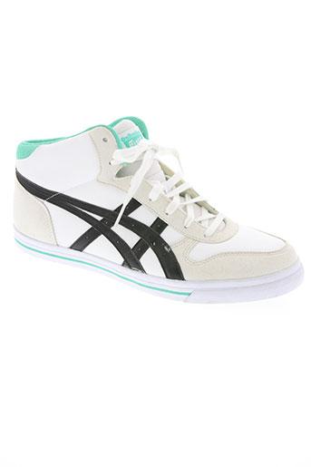 onitsuka tiger chaussures homme de couleur blanc