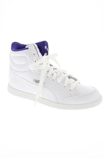 puma chaussures enfant de couleur blanc