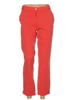 Pantalon casual rouge CECILE BOCCARA pour femme
