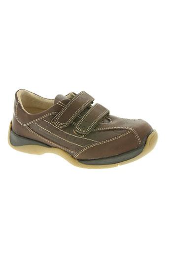 hit 16 chaussures garçon de couleur marron