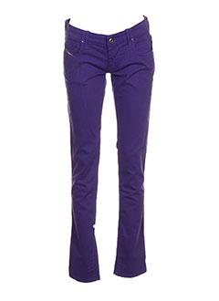 Pantalon casual violet DIESEL pour fille