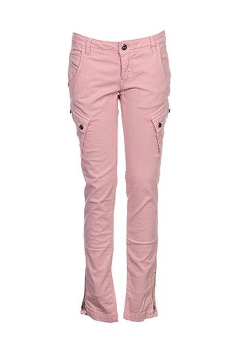 Pantalon casual rose DIESEL pour fille