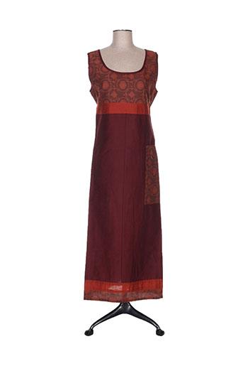 nid d'abeille robes femme de couleur rouge