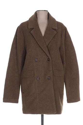 ichi manteaux femme de couleur vert