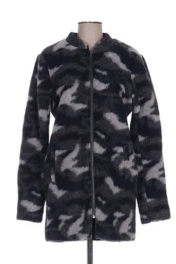 ichi manteaux femme de couleur gris