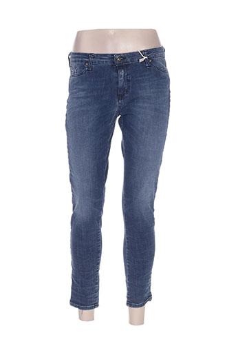 please jeans femme de couleur bleu
