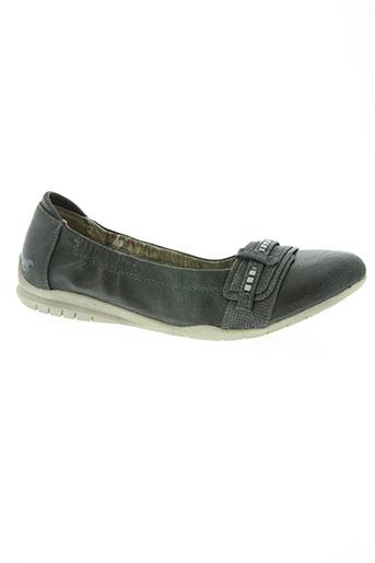 mustang chaussures femme de couleur noir