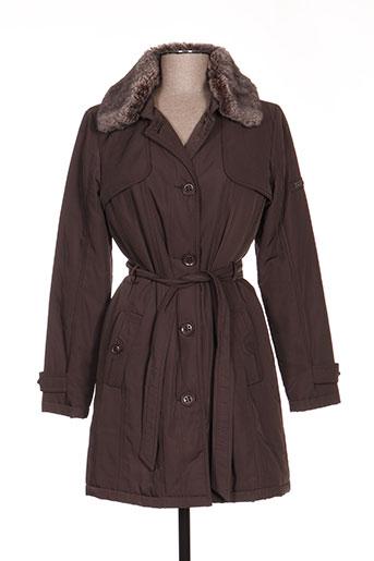Manteau long marron BURETTI pour femme