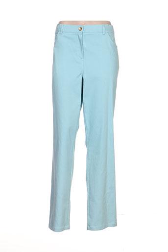 giani forte pantalons femme de couleur bleu