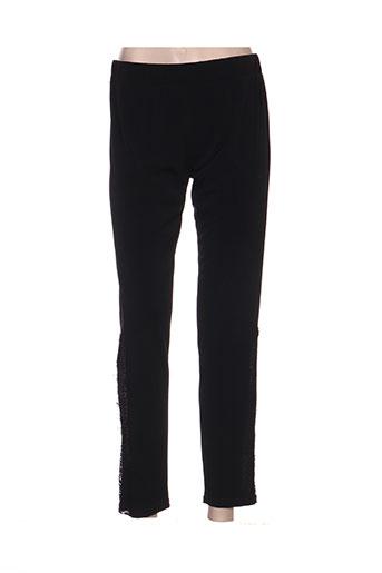 giani forte pantalons femme de couleur noir