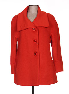 Manteau court orange BERNI BY ANTON & MODA pour femme