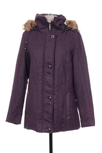 buretti manteaux femme de couleur violet