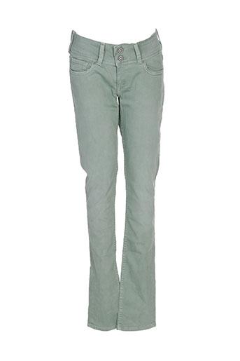 pepe jeans jeans femme de couleur vert