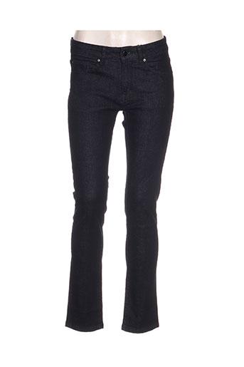 david naman jeans femme de couleur bleu