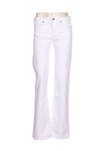 pepe jeans pantalons femme de couleur blanc