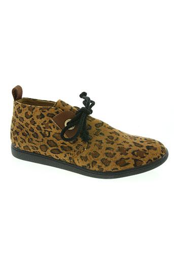 armistice chaussures femme de couleur marron