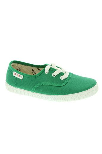 victoria chaussures enfant de couleur vert