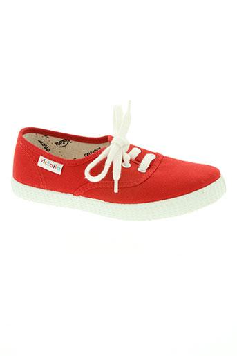 victoria chaussures enfant de couleur rouge